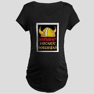 SARCASTIC NORWEGIAN! Maternity Dark T-Shirt