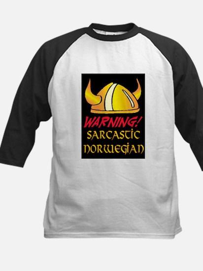 SARCASTIC NORWEGIAN! Kids Baseball Jersey
