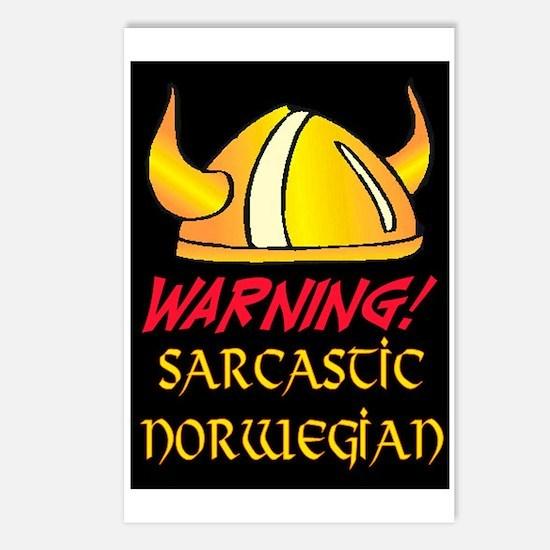 SARCASTIC NORWEGIAN! Postcards (Package of 8)