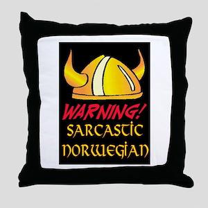 SARCASTIC NORWEGIAN! Throw Pillow