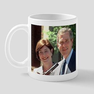 Laura and George Bush     Mug