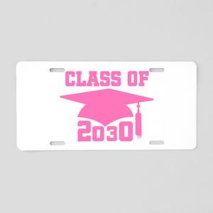 Class Of 2030 Pink Graduati Aluminum License Plate