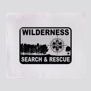 Wilderness Search & Rescue Throw Blanket