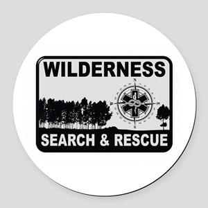 Wilderness Search & Rescue Round Car Magnet