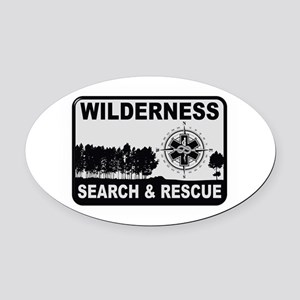 Wilderness Search & Rescue Oval Car Magnet