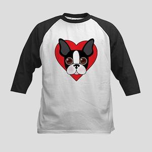 Boston Terrier Face Baseball Jersey