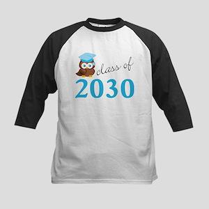 Class Of 2030 Owl Graduation Gift Baseball Jersey