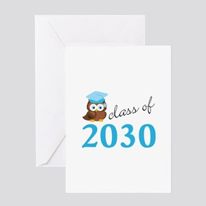 Class Of 2030 Owl Graduation Gift Greeting Cards