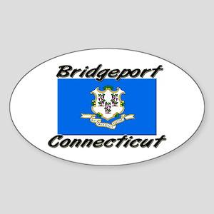 Bridgeport Connecticut Oval Sticker