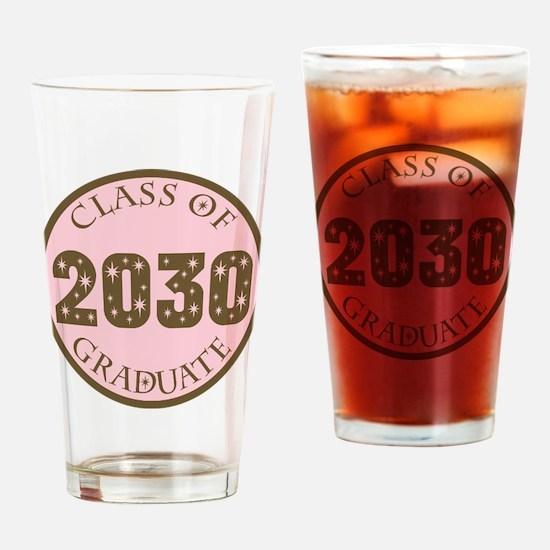 Class of 2030 Graduate Gift Drinking Glass