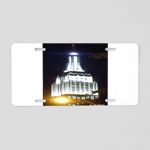 Silver Empire State Building Aluminum License Plat