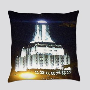Silver Empire State Building Everyday Pillow