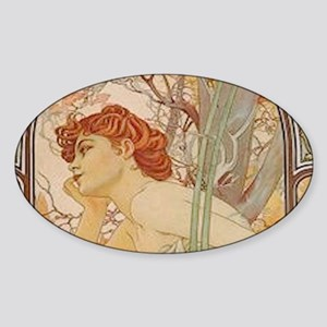 Mucha - Art Nouveau In The Garden Sticker
