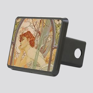 Mucha - Art Nouveau In The Rectangular Hitch Cover