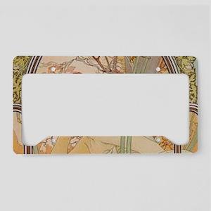 Mucha - Art Nouveau In The Ga License Plate Holder