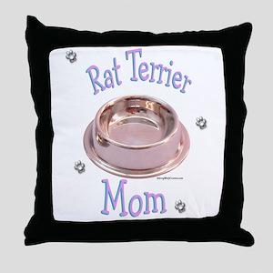 Rat Terrier Mom Throw Pillow