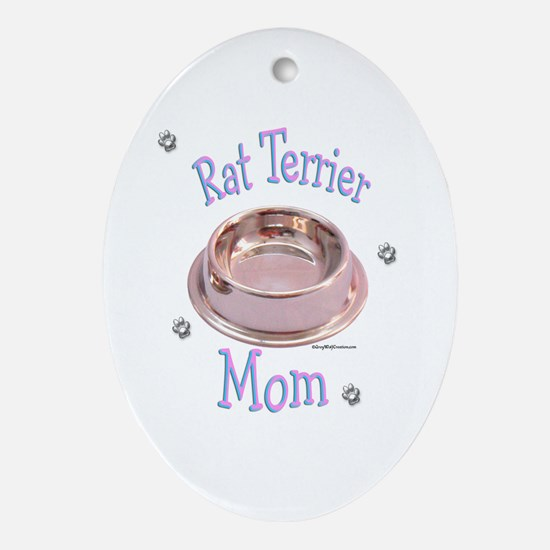 Rat Terrier Mom Oval Ornament