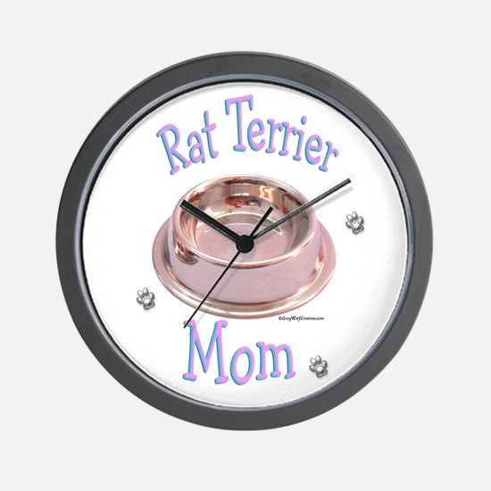 Rat Terrier Mom Wall Clock