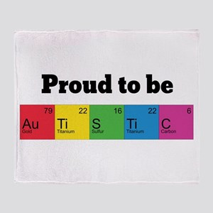 Proud to be Autistic Throw Blanket