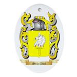 Serettini Oval Ornament