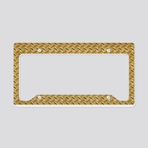 Diamond plate graphic License Plate Holder