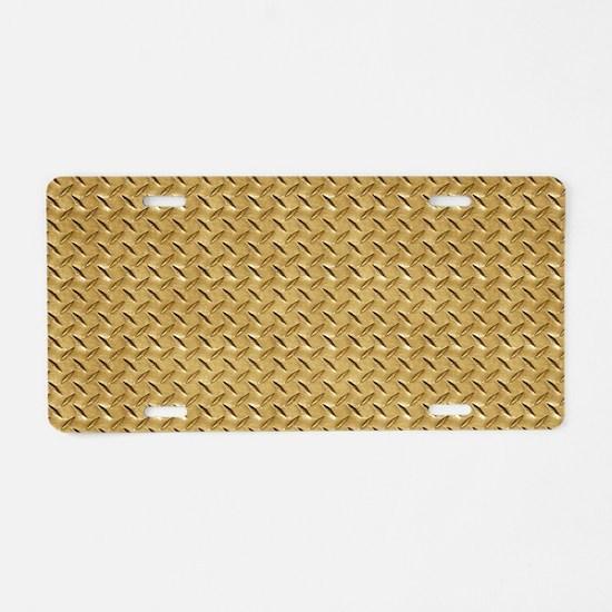 Diamond plate graphic Aluminum License Plate