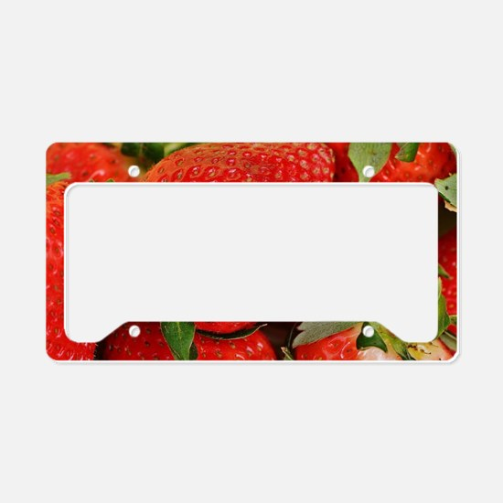 Unique Strawberry License Plate Holder