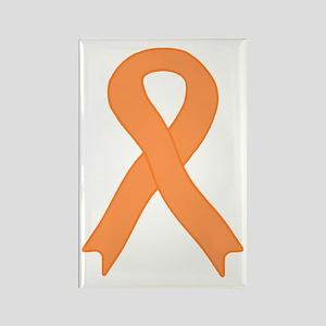 Peach Ribbon Rectangle Magnet