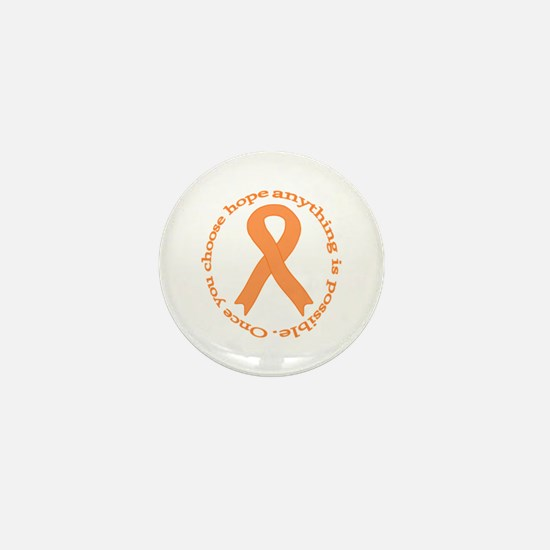 Peach Hope Mini Button