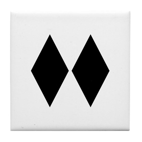 Double Diamond Ski Tile Coaster