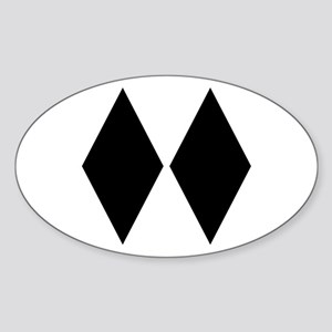 Double Diamond Ski Oval Sticker