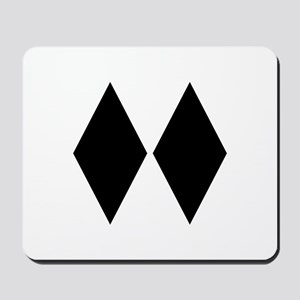 Double Diamond Ski Mousepad