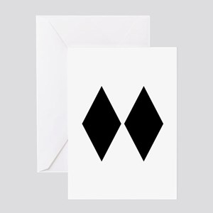 Double Diamond Ski Greeting Card