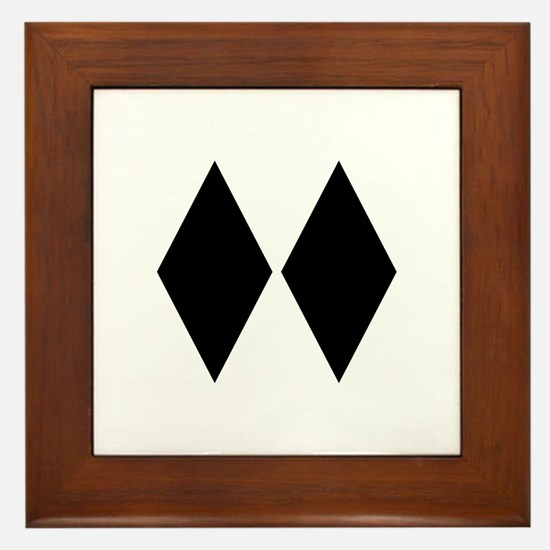 Double Diamond Ski Framed Tile