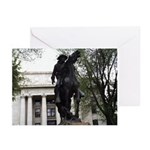 Rough Rider Statue Greeting Cards (Pk of 10)