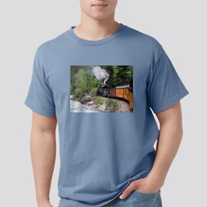 Steam train & river, Colorado T-Shirt