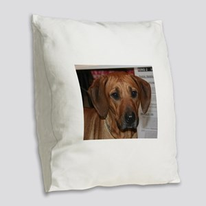 rhodesian ridgeback Burlap Throw Pillow
