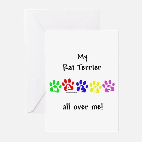 Rat Terrier Walks Greeting Cards (Pk of 20)