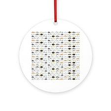Florida Inshore Fishes Round Ornament