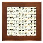 Florida Inshore Fishes Framed Tile