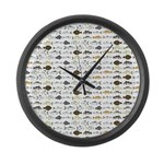 Florida Inshore Fishes Large Wall Clock