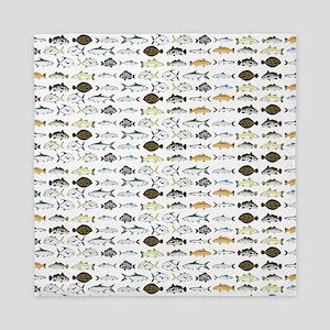 Florida Inshore Fishes Queen Duvet