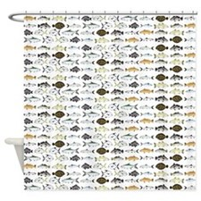 Florida Inshore Fishes Shower Curtain