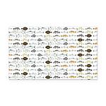 Florida Inshore Fishes Rectangle Car Magnet