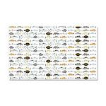 Florida Inshore Fishes Car Magnet 20 x 12