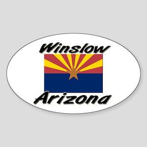 Winslow Arizona Oval Sticker