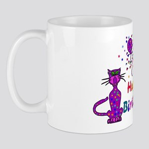 Purple Birthday Cats Mug
