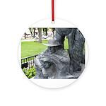 Prescott Cowboy Statue Pendant/Ornament (Round)
