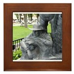 Prescott Cowboy Statue Framed Tile