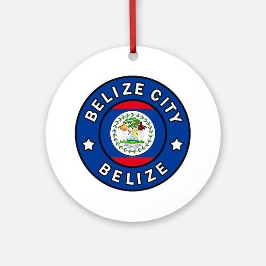 Cute Belizean Round Ornament